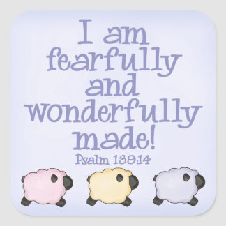 Fearfully and Wonderfully Made - Blue Sticker