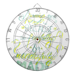 Fearfully and Wonderfully Made Dartboard With Darts