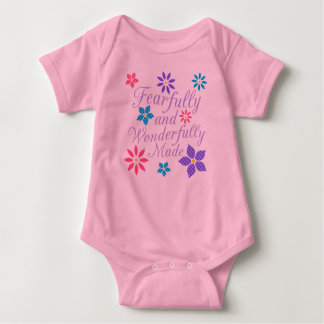 Fearfully and Wonderfully Made Floral Baby Bodysuit