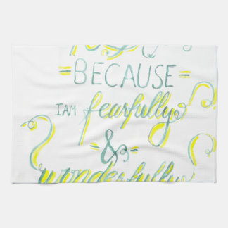 Fearfully and Wonderfully Made Hand Towels