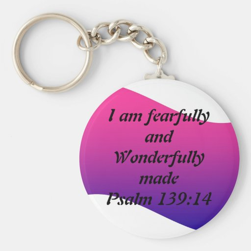 Fearfully and Wonderfully Made Key Chains