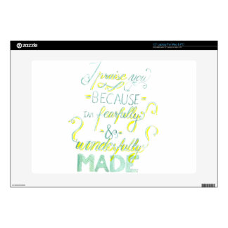 Fearfully and Wonderfully Made Laptop Decal