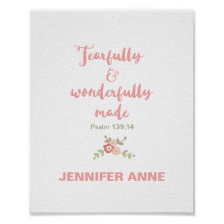 Fearfully and Wonderfully Made Nursery Poster