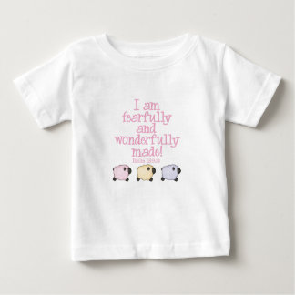 Fearfully and Wonderfully Made - Pink Baby T-Shirt