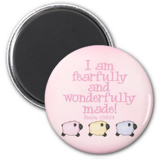 Fearfully and Wonderfully Made - Pink Magnet