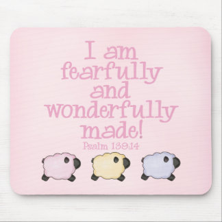 Fearfully and Wonderfully Made - Pink Mouse Pad