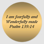 Fearfully and Wonderfully Made Round Sticker