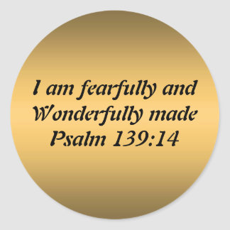 Fearfully and Wonderfully Made Round Stickers
