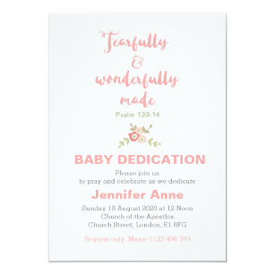 baby dedication invitations zazzle