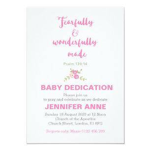 Baby Dedication Invitations Announcements Zazzle