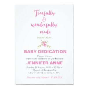 Fearfully U0026 Wonderfully Baby Dedication Invite
