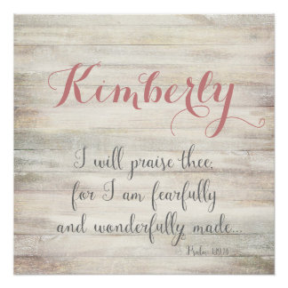 Fearfully & Wonderfully Made - Ps. 139:14 Poster