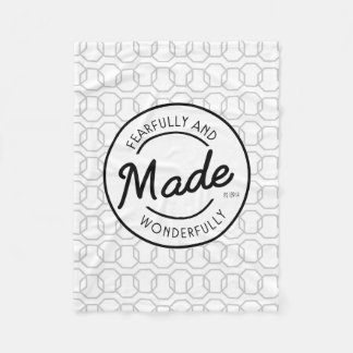 Fearfully & Wonderfully Made Vintage Stamp Fleece Blanket