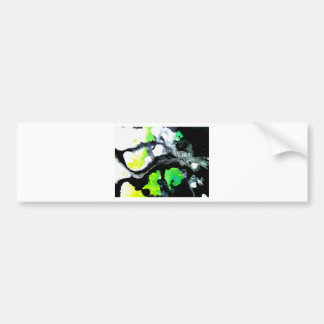 Fearless abstract painting black white green bumper sticker