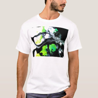 Fearless abstract painting black white green T-Shirt
