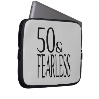 Fearless and Fifty Laptop Sleeve