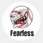 Fearless Baseball Classic Round Sticker