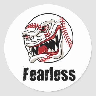Fearless Baseball Classic Round Sticker