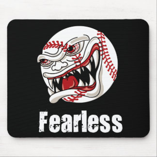 Fearless Baseball Mouse Pad