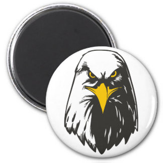 Fearless Eagle 2 Inch Round Magnet