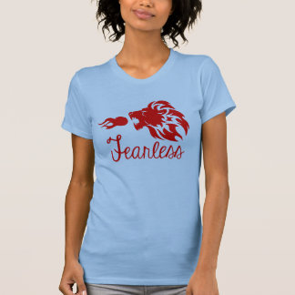 Fearless Fire Breathing Lion T Shirt