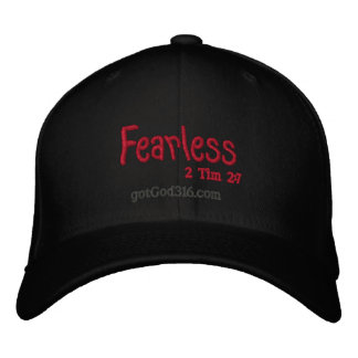 FEARLESS gotGod316.com 2 Timothy 2:7 Embroidered Hat