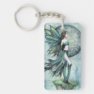 Fearless Gothic Fantasy Molly Harrison Fairy Art Keychain