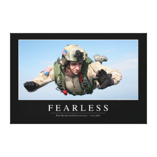 Fearless: Inspirational Quote Canvas Print