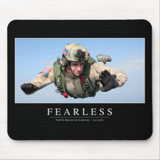 Fearless: Inspirational Quote Mouse Pad