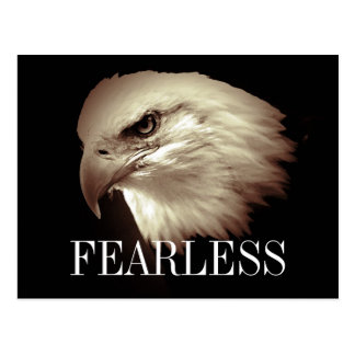 Fearless Motivational Bald Eagle Postcards