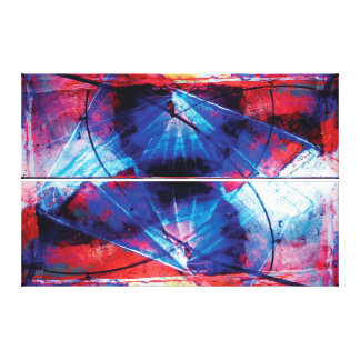 FEARLESS PURSUIT Vibrant Abstract Motion Canvas Print