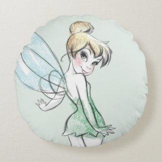 Fearless Tinker Bell Round Pillow