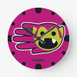Hand shaped Fearless Vampire Lord Round Clock