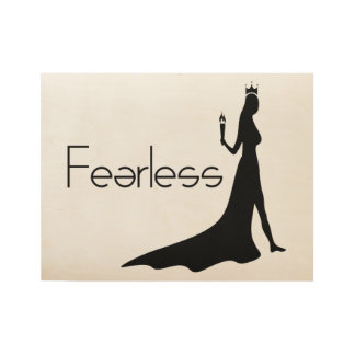 Fearless Wood Poster