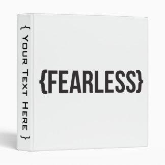 Fearless - You Choose Background Color Binder