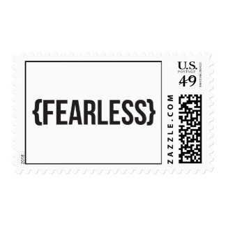 Fearless - You Choose Background Color Postage