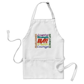 Fearlessness Courage Faith Etc...Word Picture Adult Apron
