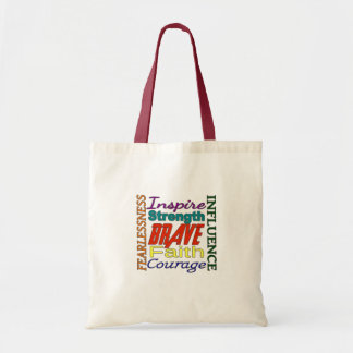 Fearlessness Courage Faith Etc...Word Picture Canvas Bag