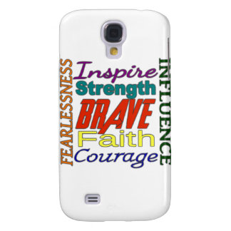 Fearlessness Courage Faith Etc...Word Picture Galaxy S4 Cases