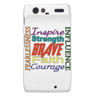 Fearlessness Courage Faith Etc...Word Picture Motorola Droid RAZR Cover