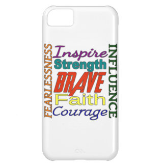 Fearlessness Courage Faith Etc...Word Picture Cover For iPhone 5C