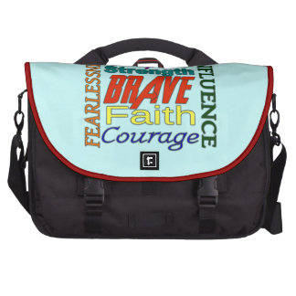 Fearlessness Courage Faith Etc...Word Picture Laptop Bag