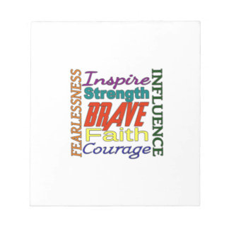 Fearlessness Courage Faith Etc...Word Picture Memo Note Pad