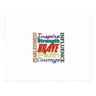 Fearlessness Courage Faith Etc...Word Picture Postcard