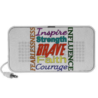 Fearlessness Courage Faith Etc...Word Picture iPod Speaker