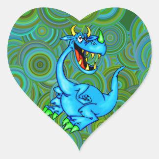 Fearsome Dragon Heart Sticker