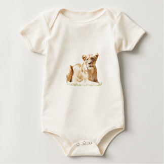 Fearsome lioness baby bodysuit