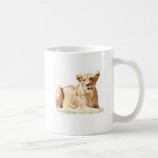 Fearsome lioness coffee mug