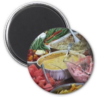 Feast 2 Inch Round Magnet