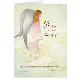 Feast Day Religious Angel Card
